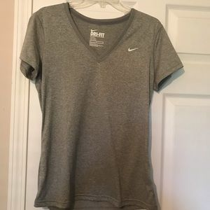 Gray Nike Dri-Fit V Neck t-shirt medium NWOT